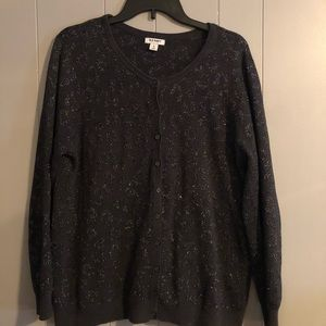 sparkle sweater print, gentle worn
